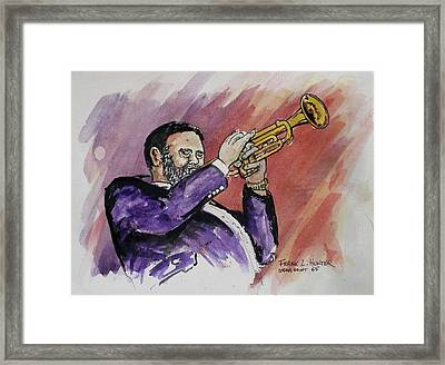 Mister Too Many Notes Framed Print by Frank Hunter