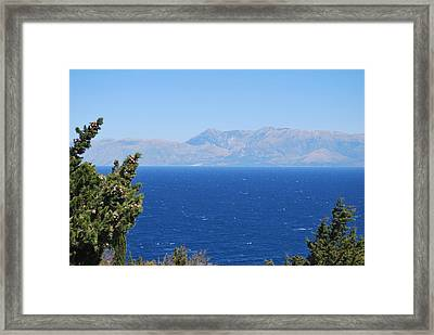 Framed Print featuring the photograph Mistral Wind by George Katechis
