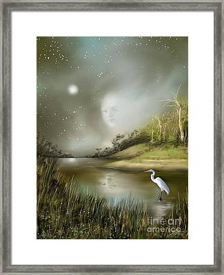 Framed Print featuring the painting Mistress Of The Glade by S G