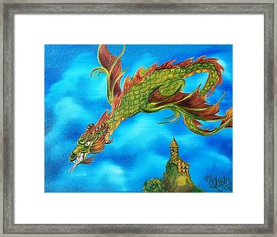 Framed Print featuring the painting Mistress Of The Wizards Keep by The GYPSY And DEBBIE