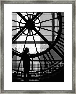 Mistress Of Time Lost Framed Print by Wesley S Abney
