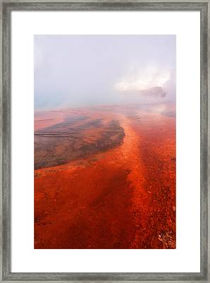 Mists In The Firehole Framed Print by Jeff Swan