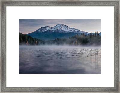 Mists On Siskiyou Lake Framed Print by Greg Nyquist