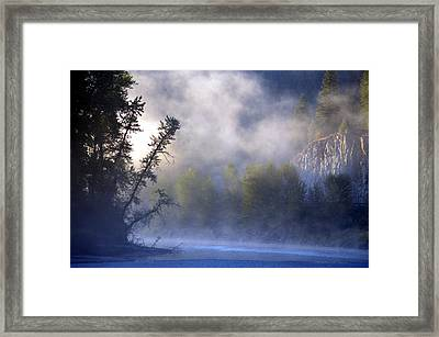 Mists Over Kettle River Framed Print by J Foster Fanning