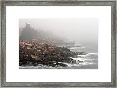 Misty Acadia National Park Seacoast Framed Print by Juergen Roth