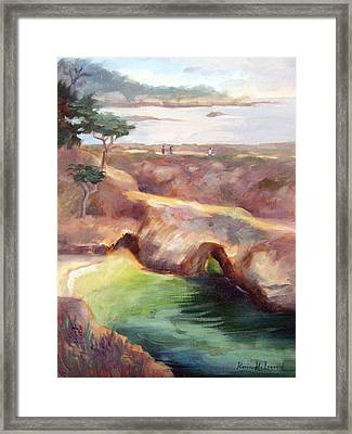 Misty Afternoon China Cove Framed Print by Karin  Leonard