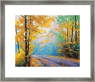 Misty Autumn Day Framed Print