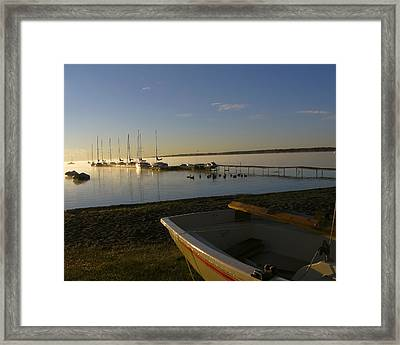 Misty Autumn Morning Framed Print