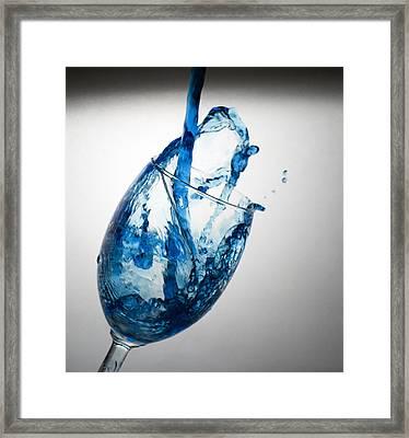 Misty Blue Framed Print by John Hoey