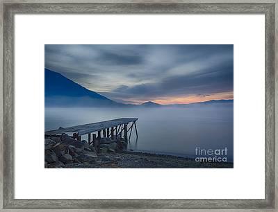 Misty Blue Twilight Framed Print