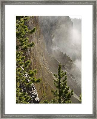 Misty Canyon  Framed Print