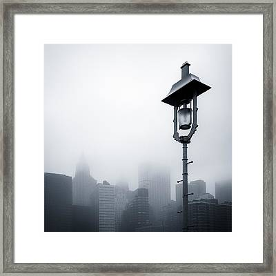 Misty City Framed Print