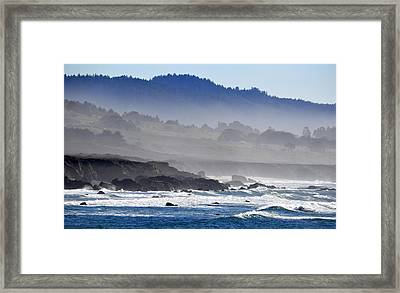 Misty Coast Framed Print by AJ  Schibig