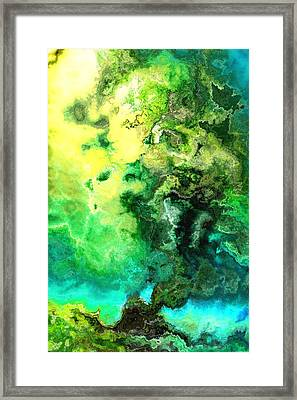 Misty Coast Framed Print by Jury Onyxman