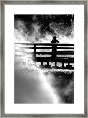 Misty Cowgirl Framed Print