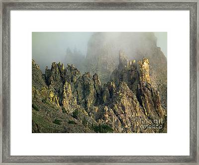 Misty Crags Framed Print