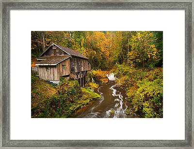 Misty Creek Framed Print