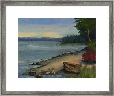 October On Puget Sound Framed Print by Maria Hunt