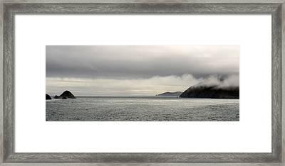 Misty Day On The Blasket Islands Framed Print by Barbara Walsh