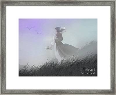 Misty Encounter Framed Print
