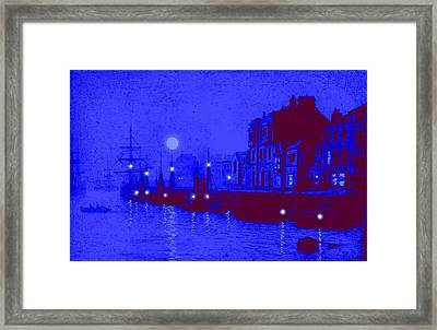 Misty Evening Whitby Harbor 1893 Framed Print by John A Grimshaw - L Brown