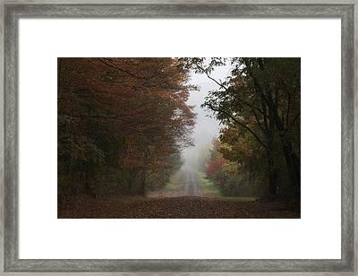 Misty Fall Morning Framed Print
