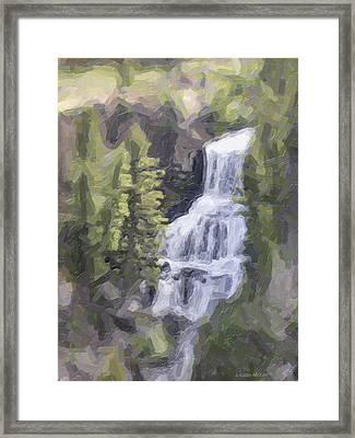 Misty Falls Framed Print by Jo-Anne Gazo-McKim