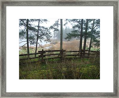 Misty Flats Framed Print by Cheryl Hoyle