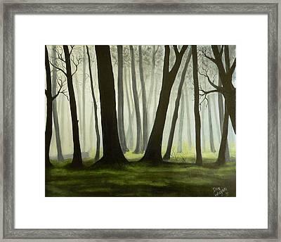 Misty Forrest Framed Print