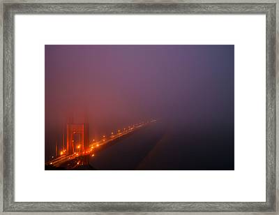 San Francisco - Misty Golden Gate  Framed Print by Francesco Emanuele Carucci