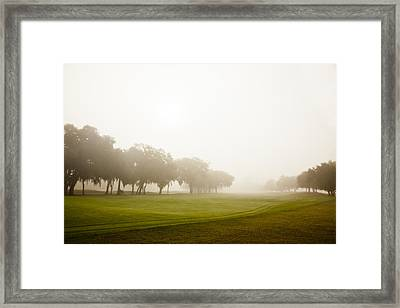 Misty Golf Course II Framed Print by Barbara Northrup