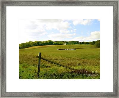 Misty Hills Farm Framed Print