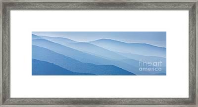 Misty Blue Hills Framed Print by Rod McLean