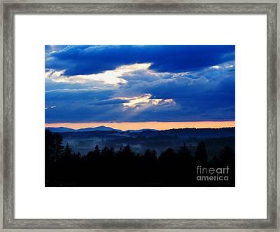 Misty Hills Framed Print by Steven Valkenberg