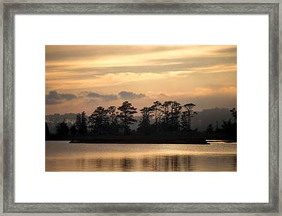 Misty Island Of Assawoman Bay Framed Print