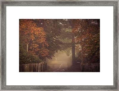 Misty Junction Framed Print by Chris Fletcher