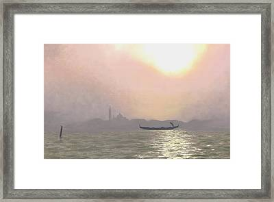 Misty Lagoona 34 X 47 Framed Print by Michael Swanson