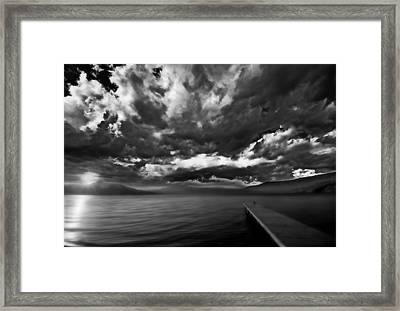 Misty Lake Framed Print