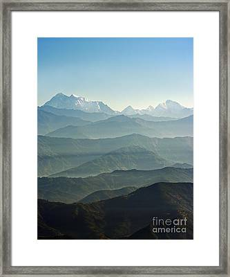 Framed Print featuring the photograph Misty Layers by Jacqi Elmslie