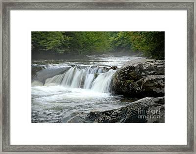 Misty Little Pigeon River  Framed Print