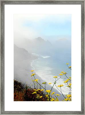 Misty Framed Print by Mamie Gunning