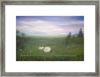 Misty Meadow Isaiah  Framed Print