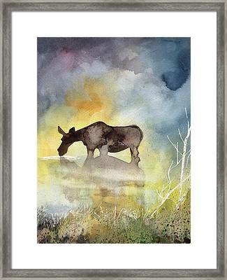 Misty Moose Minerva Framed Print
