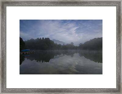 Misty Morning Framed Print by Aaron Bedell