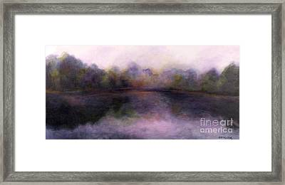 Framed Print featuring the painting Misty Morning by Alison Caltrider
