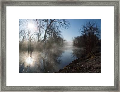 Misty Morning Along James River Framed Print