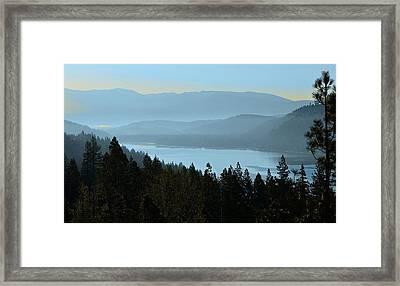 Misty Morning At Donner Lake Framed Print