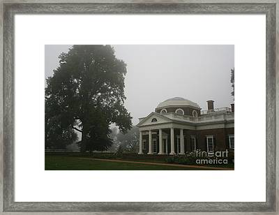 Misty Morning At Monticello Framed Print