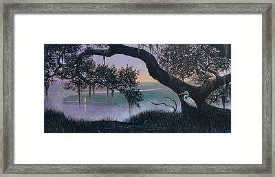 Misty Morning At Seabrook Framed Print by Blue Sky