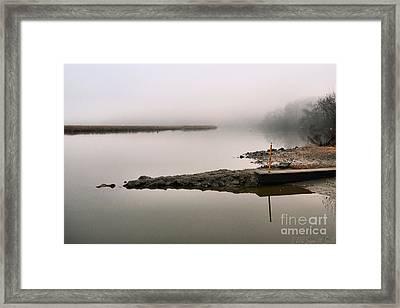 Misty Morning Calm Framed Print